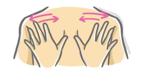 肩甲骨のマッサージ