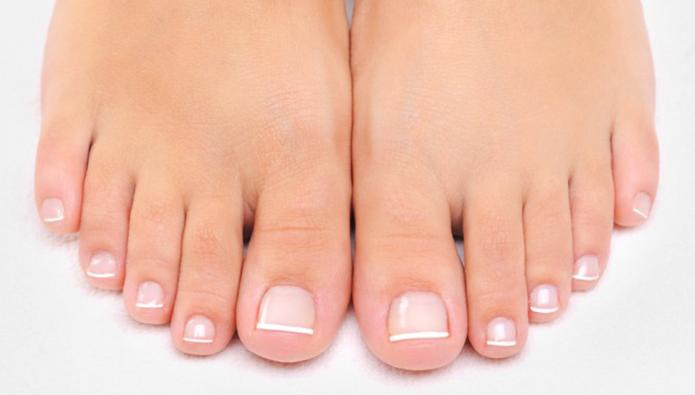 キレイになった足の指